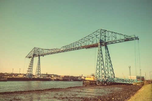 Old Transporter Bridge from Middlesbrough History